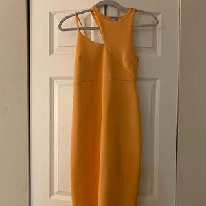 Sherbert orange maternity cocktail dress